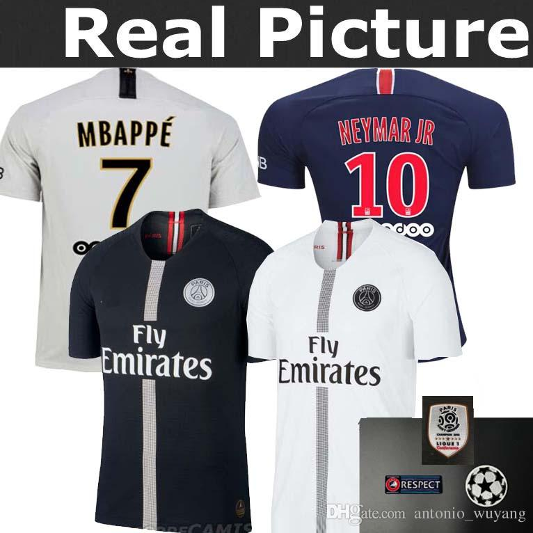 PSG 1819 Home Men Soccer Jersey Personalized name t af7eeb016