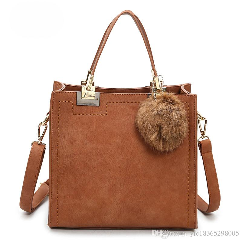 6ec2293e8ff0 Zobtrn Frosted Handbags Woman Fashion PU Leather Simple Small Square Bags  Ladies Retro Practical Female Shoulder Bags Side Bags Handbag Brands From  ...
