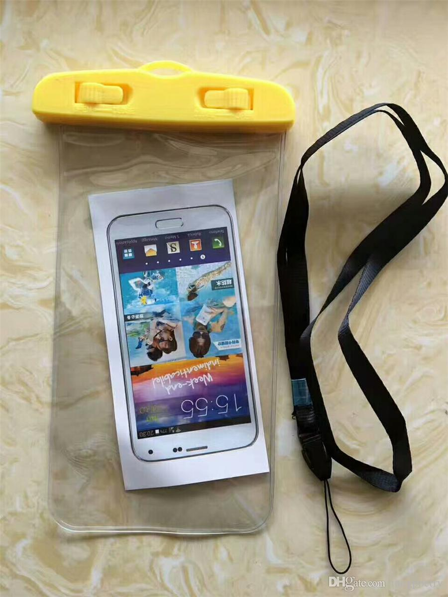 Sac étanche à l'épreuve de l'eau Sac de brassard pochette Étui pour étuis à l'épreuve de l'eau universels pour tous les téléphones cellulaires pour téléphones intelligents jusqu'à 5,8 pouces