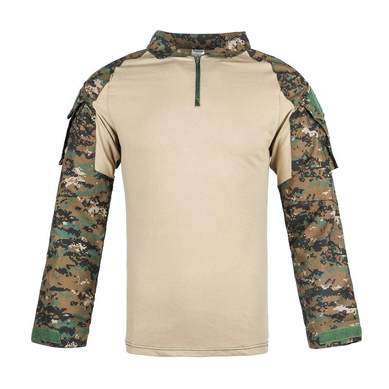 Multicam Uniform Long Sleeve T Shirt Men Camouflage Army Combat Shirt Paintball Clothes Tactical