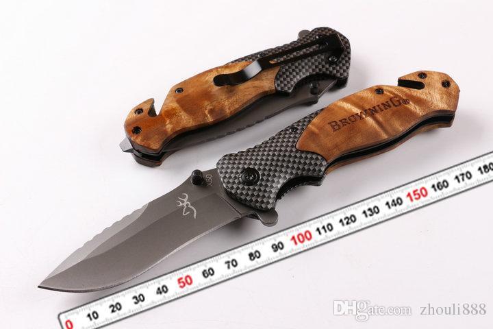 براوننج AT-11 X50 X49 354 DA30 X23 CUT مكافحة الضربة الانقاذ باوي سكين التخييم الصيد الانقاذ سكين التكتيكية الصيد التخييم سكين