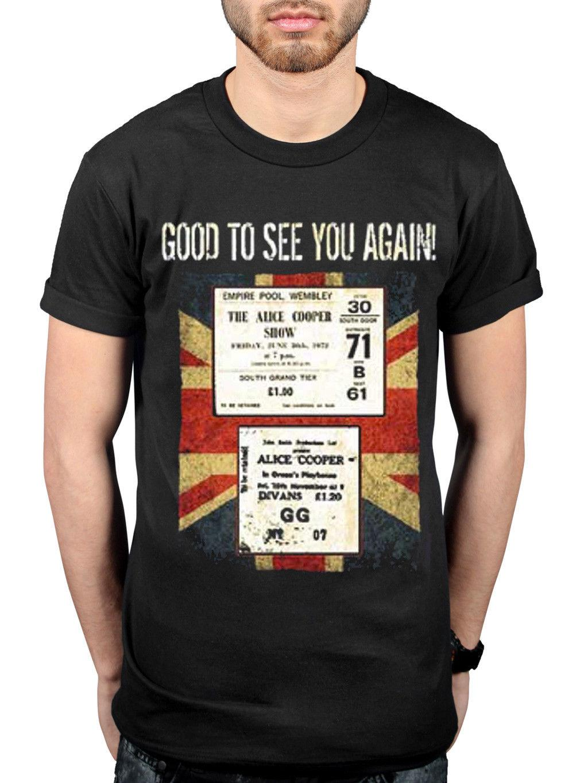 Official Alice Cooper Uk Only Event Nov Tour T-Shirt Flush The Fashion  Merch custom printed tshirt hip hop funny mens tee shirts