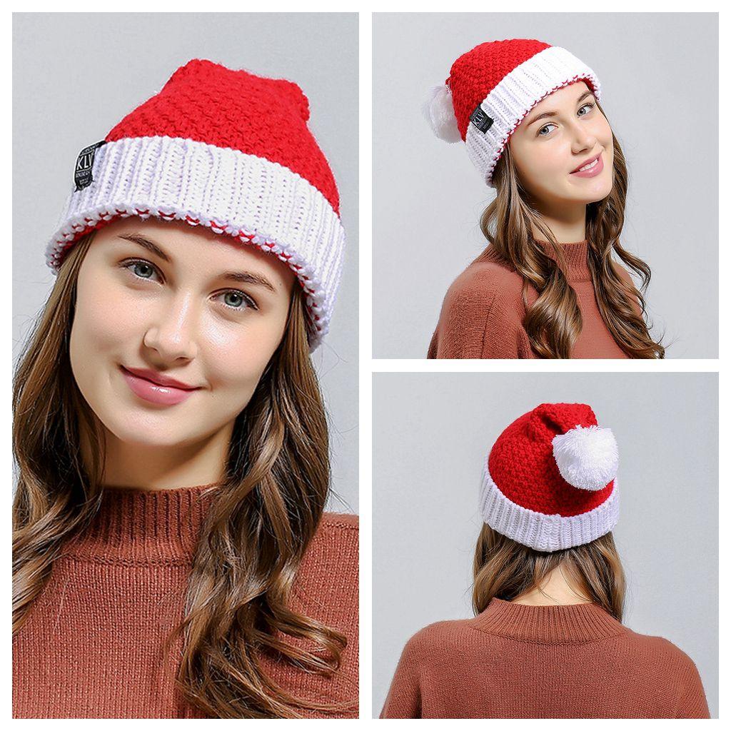 d6399c76c32 2019 Christmas Party Crochet Beanie Knitted Hat Santa Claus Xmas Winter Hats  Soft Wool Christmas Warm Cap Men Women Kids NNA541 From Liangjingjing no3