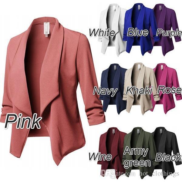 d518f7c42 Women Korea Suit Coat Cardigans Puff Sleeve Ladies Autumn Plus Size 5XL  Coats Casual Lapel Collar Female Blazers Jackets Slim Suits