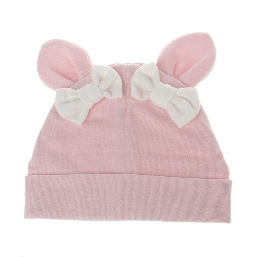 Sonbahar Kış Bebek Kız Bunny Kulak pamuk Caps Çocuk Kız Prenses Bow Şapka Bebekler Noel Aksesuarları