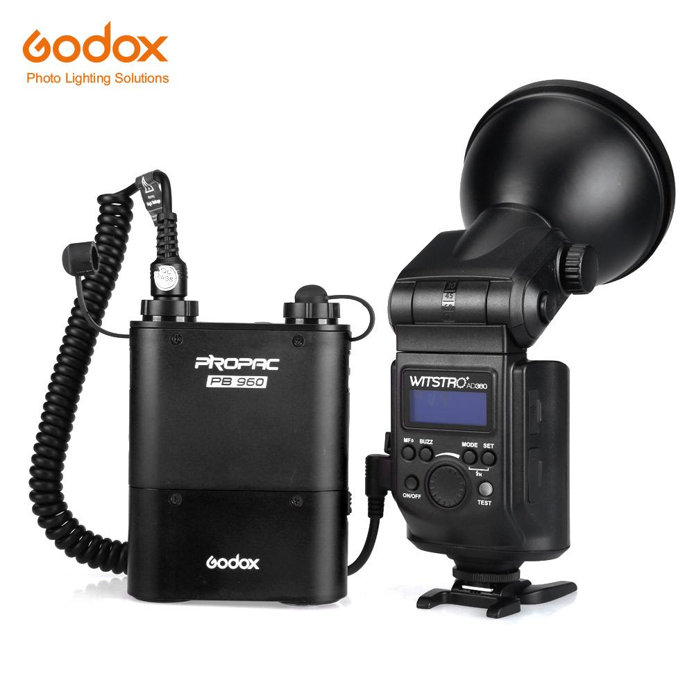 Free DHL Godox Witstro AD360 High Power External Portable Flash Light Speedlite Lithium Battery Pack for DSLR Camera