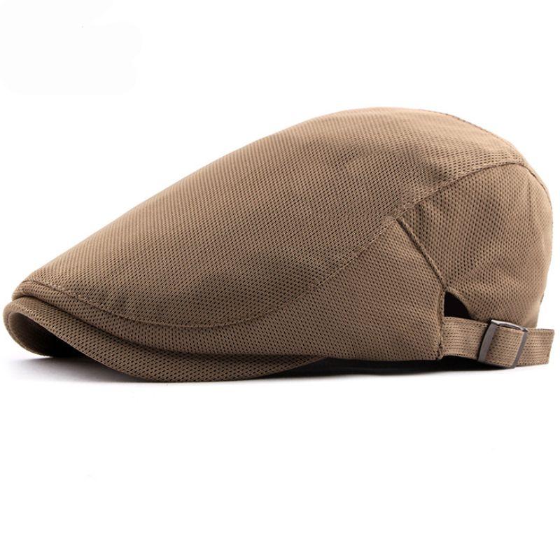 66ee89c6f9 HT1753 Summer Breathable Beret New Fashion Men Beret Cap Women Plain ...