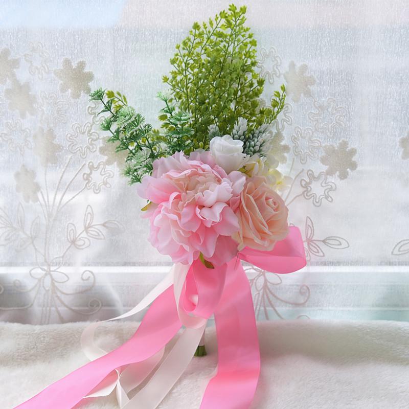 Grosshandel Blush Pink Hochzeit Blumen Mit Kunstlichen Rosen