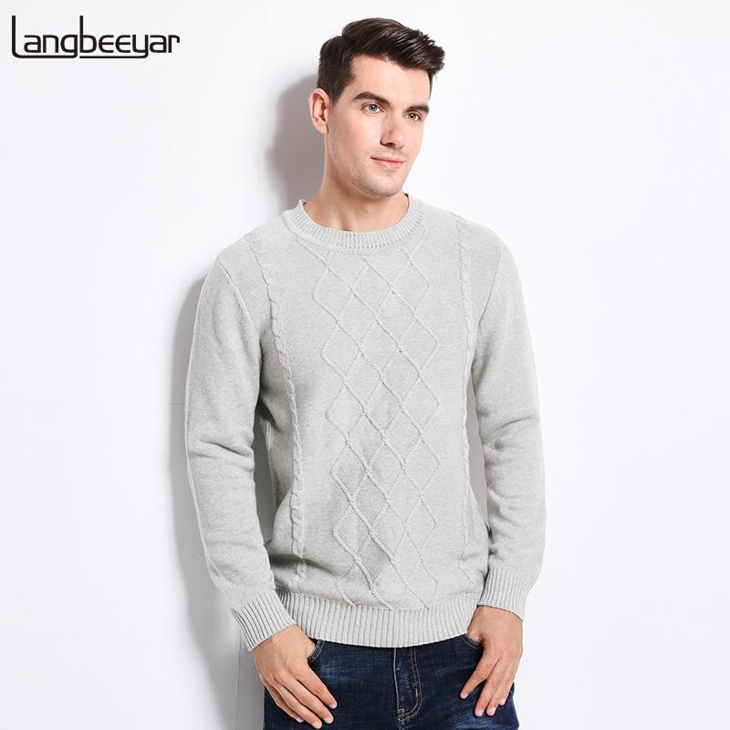 2eebbd55b 2019 New Autumn Winter Fashion Brand Clothing Men S Sweaters O Neck Slim  Fit Men Pullover 100% Cotton Knitted Jacquard Sweater Men From Bigseaa