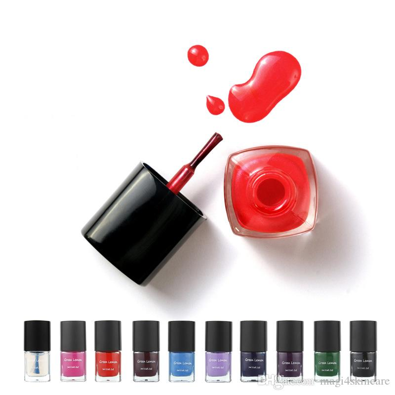 Water Based Strippable Nail Polish Non Toxic Healthy Top Coat Quick ...