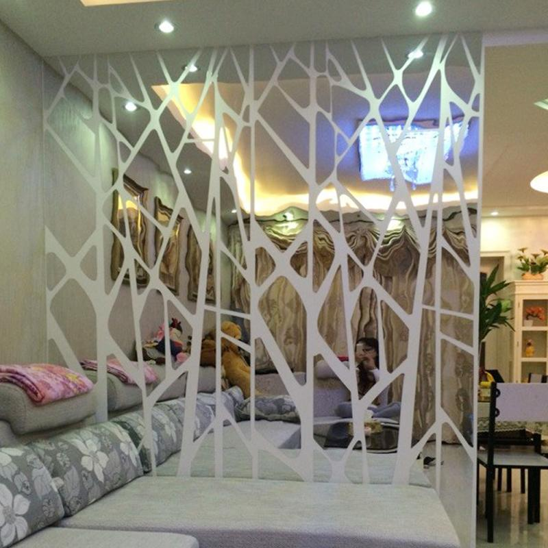 Diy Creative Geometric Patterns Mirror Surface Wall Sticker For Bedroom Living Room Decor Custom Size Decals Art Airplane Stickers All