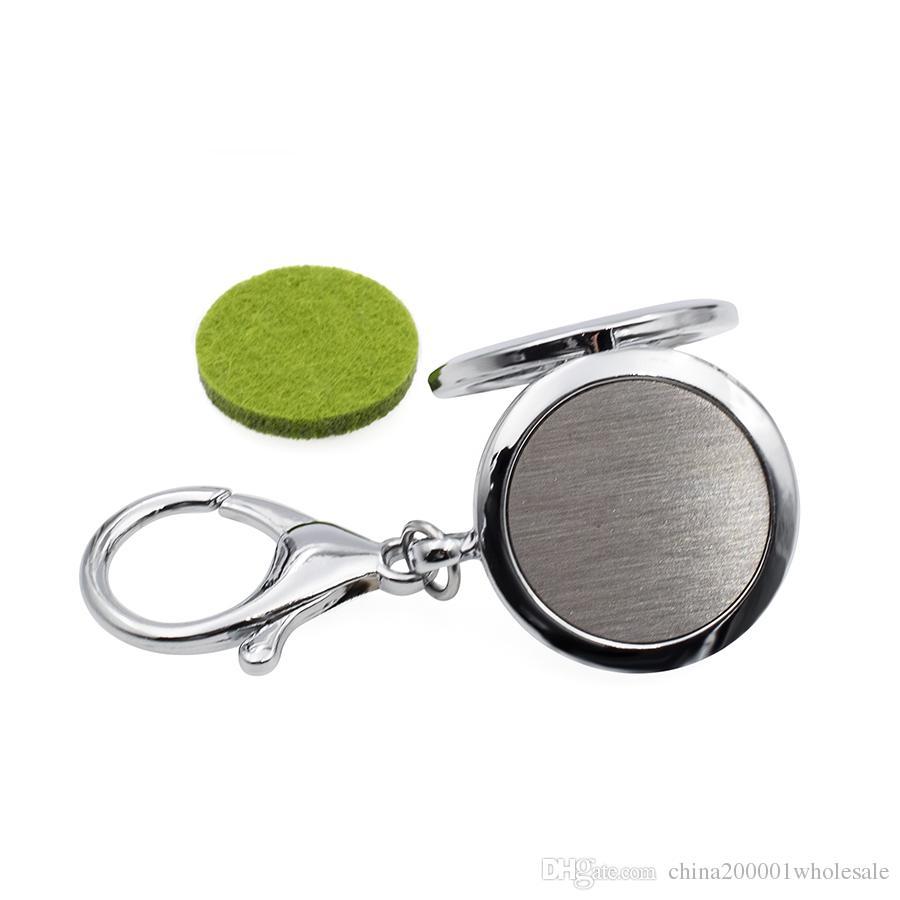 Dog / Cat Paw KeyChain Aceite esencial Difusor de aroma Difusor medallón con cierre de langosta llavero llavero con almohadillas libres KA61-KA70