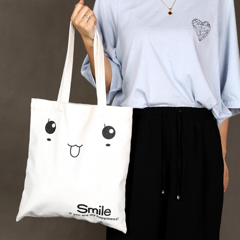 66e1f2297e47 10PCS Women's Casual Tote Female Daily Use Female Canvas Shopping Bag  Ladies Single Shoulder Handbag Simple Beach Bag