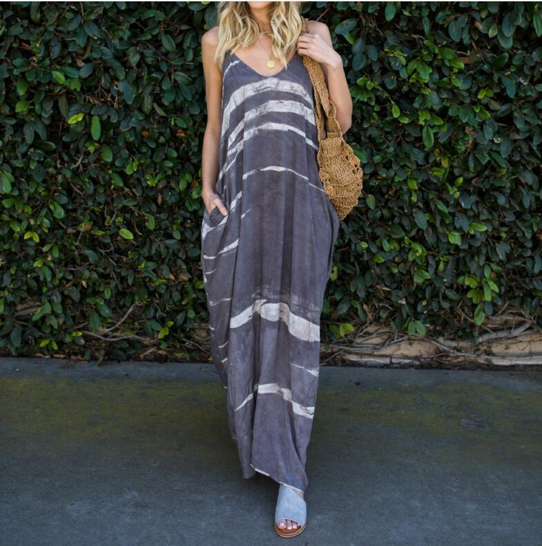 e8efb55638724 Colorful Vertical Striped Sexy Strapless Women Dresses Summer Casual  Printed Party Beach Dress Holiday Maxi Long Dresses