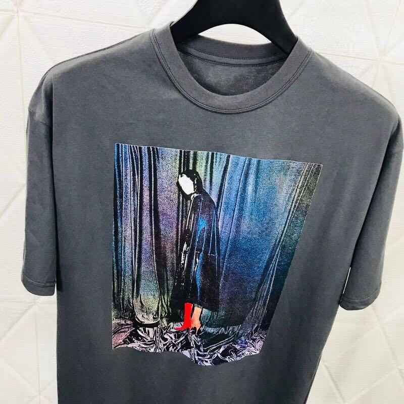 18ss Luxury Europe Milano Paris High quality oil Painting Tee Skateboard Cool Men Women Cotton Casual T shirt