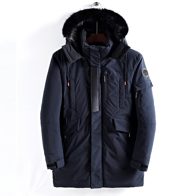 6e6922a80810 2019 Brand Navy Parka Men 2018 Winter Jacket Men Fashion Design Big Fur  Hooded Men S Long Down Jacket Coat Male Manteau Homme Hiver From  Shoppingparty