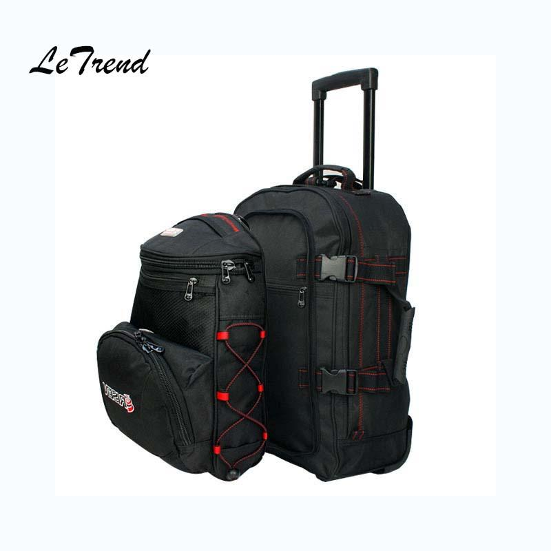 ad8aafc39bcd Letrend Rolling Luggage Set Backpack Trolley Business Shoulder Bag Travel  Bag Multi-function Suitcases Wheel Travel Bags Cheap Travel Bags Letrend  Rolling ...