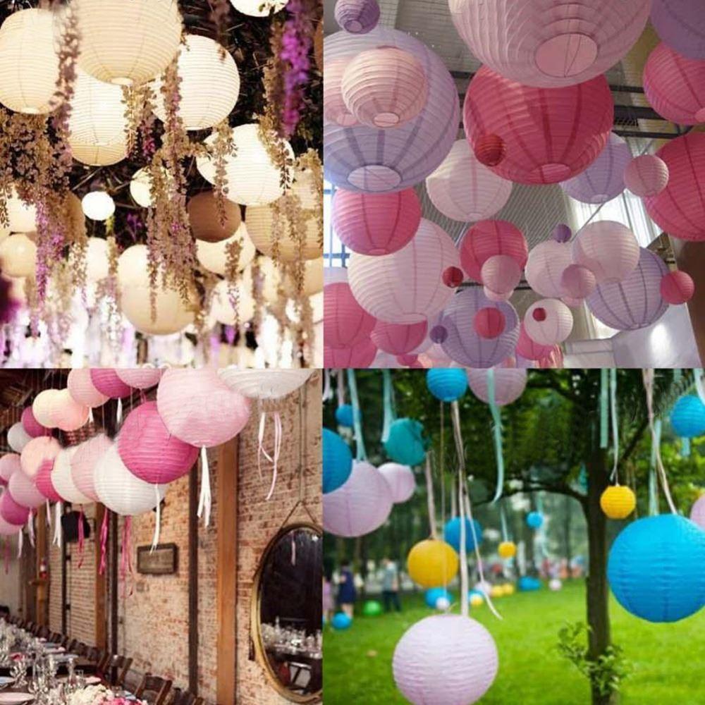 2018 Chinese Traditional Hanging Lanterns Wedding Round Paper ...