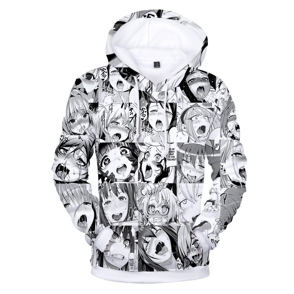 f6dc4c20d07 2019 Ahegao Hoodies Sweatshirt 2018 Autumn Winter Long Sleeve 3D Hoodie Men  Pullover Funny 3d Print Tracksuit Plus Size From Edward03