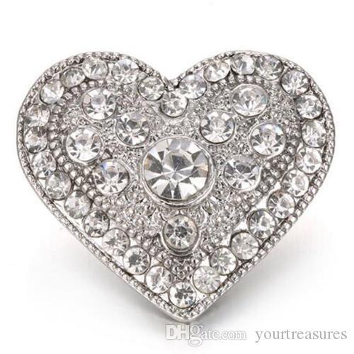 nova pressão jóias de ouro do amor do metal do vintage 18mm botões de pressão para 18mm snap pulseira pulseiras