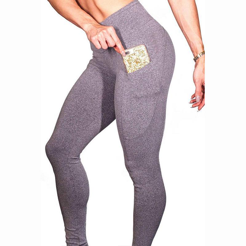 bc2fe9e7de34b 2019 Solid Color Leggings Women High Waist Workout Leggings Femme Sexy Push  Up Pocket Leggins Female S XL From Wanglon08, $27.83 | DHgate.Com