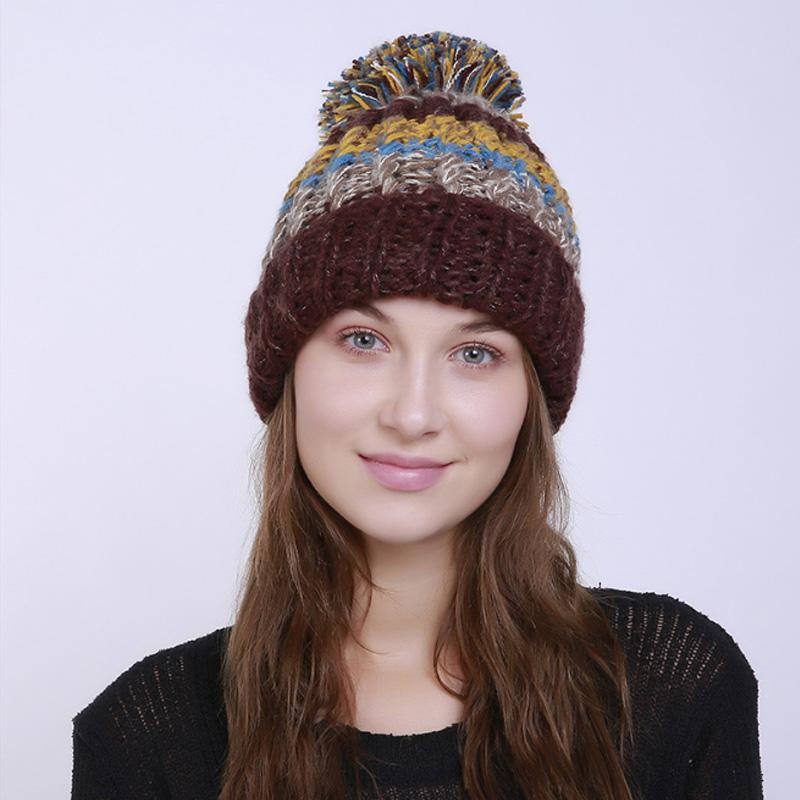 f5c36188c7d MARKPORDA High Quality Winter Cap Hat Pompom Gorros Mujer Invierno Women  Fashion Unique Design Beanie HT013 Stetson Hats Trilby From Jamesjewelry