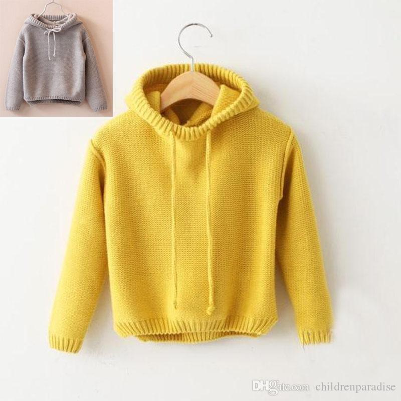 ff69e8b5a Children s Sweaters Hooded Boy Girls Knitted Sweater Autumn Winter ...