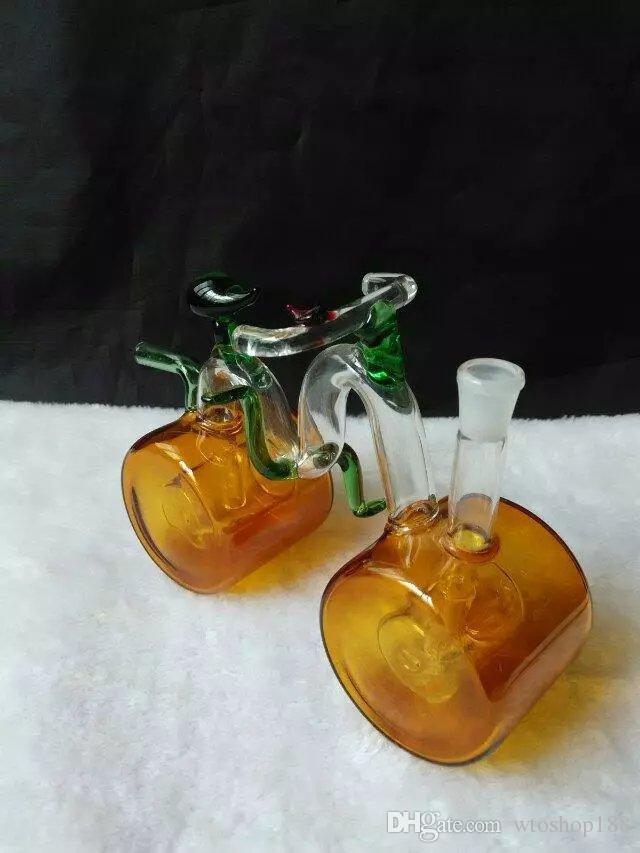 Le nouveau vélo bouteille d'eau en verre transparent En gros bongs en verre Brûleur à mazout Tuyaux d'eau en verre Rigs de pétrole Fumer sans