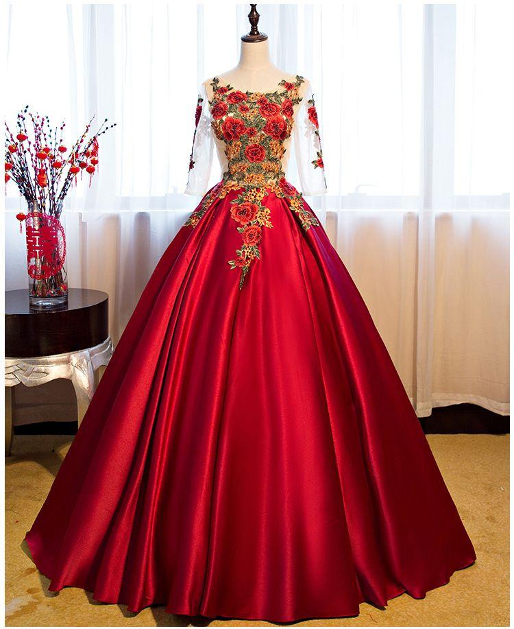5b081ddfc Y Compre Noche Vestidos Encaje De Manga Largos Rojos fgvw1xvq