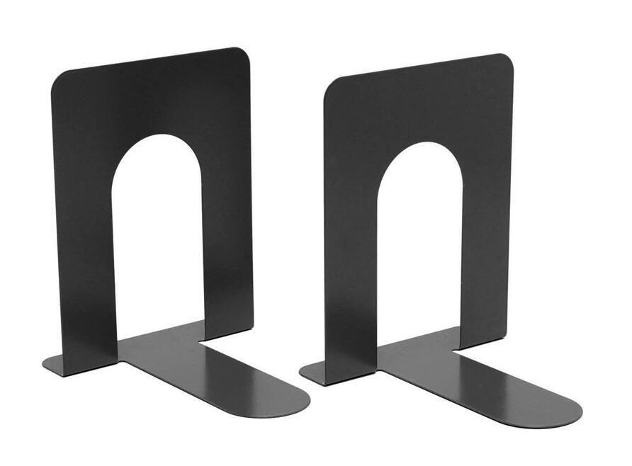 KE/_ KQ/_ Hollow Iron Craft Bookend with Pen Holder Desktop Book Storage Rack La