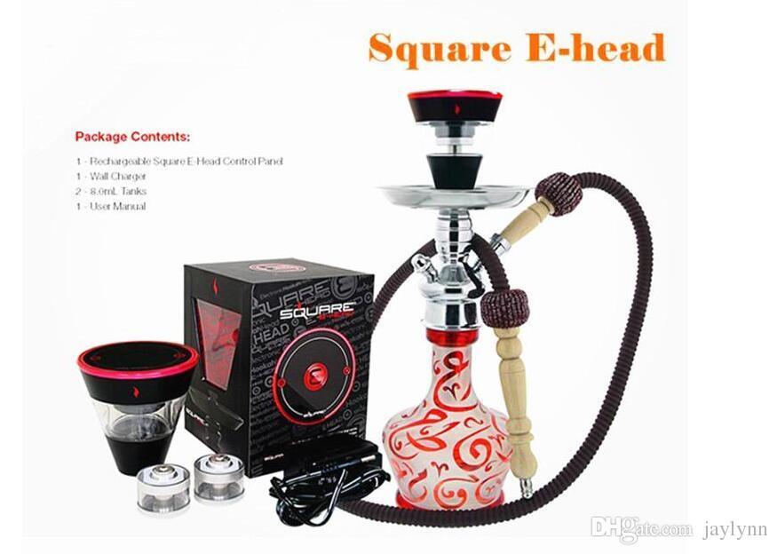 electronic cigarette hookah starbuzz square e head hookah 2200mAh e cigareete 1000-1500 puffs Vape E Head e-cigarettes