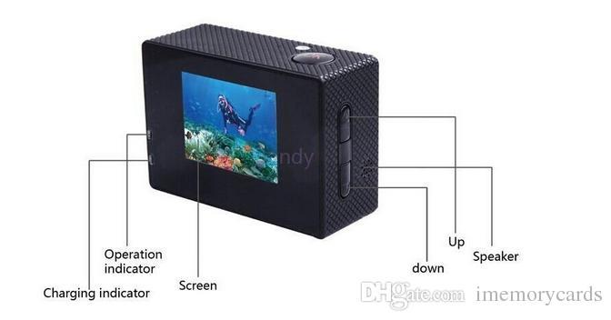 2018 حار sellSJ4000 الرياضة كاميرا sj 4000 1080 وعاء 2 بوصة lcd كاملة hd تحت ماء 30 متر الرياضة dv تسجيل دراجة سكيت