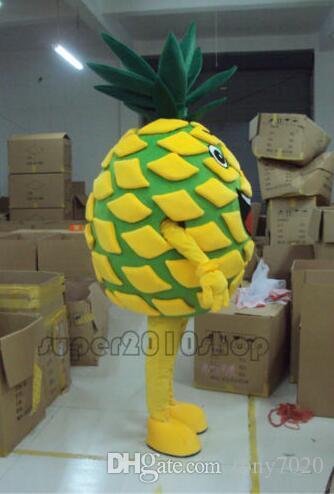 Yeni Stil Yetişkin Sevimli MARKA Karikatür Yeni meyve Ananas Maskot Kostüm Fantezi Elbise Sıcak Satış Parti kostüm Ücretsiz Gemi