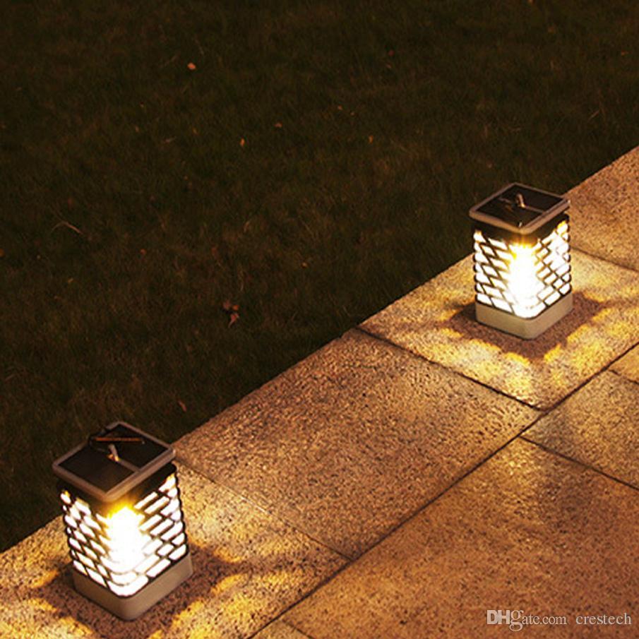 2018 Fire Dancing Solar Lantern Outdoor Hanging Garden Lights Solar Powered  Flame Torch Lanterns For Pathway Garden Deck Waterproof From Crestech, ...