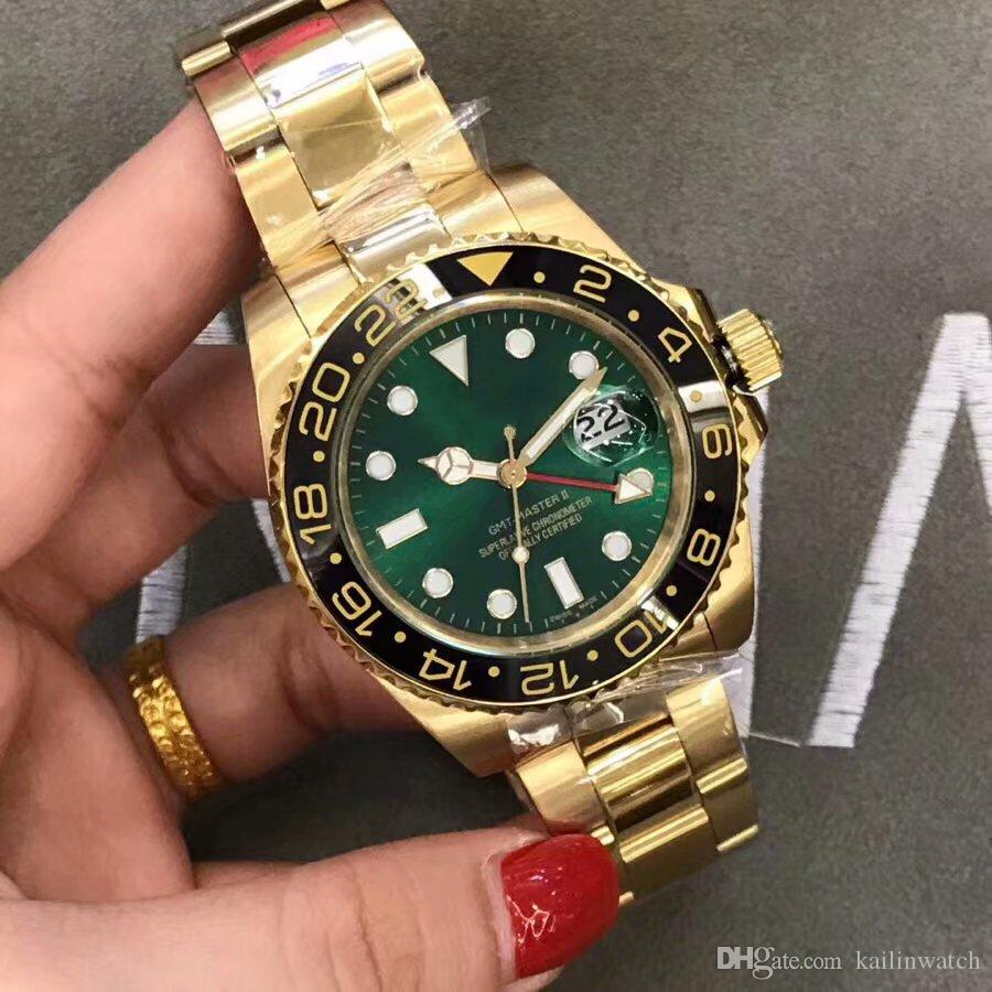Top Aaa Swiss Luxury Brand High Quality Gold Gmt Automatic Men S
