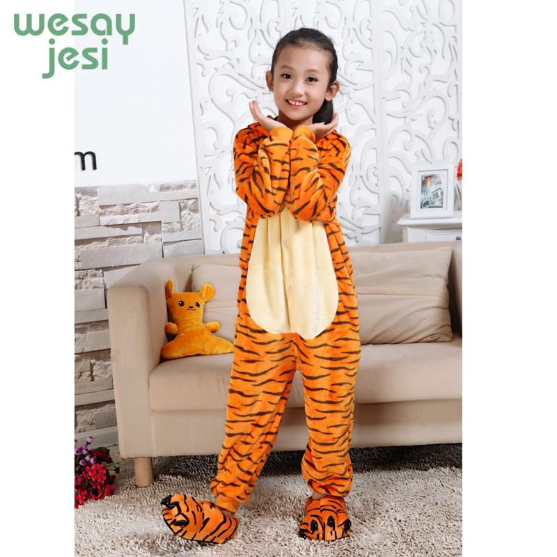 Winter Girl Boy Children s Pajamas Unisex Baby Onesie Infantil Cartoon  Tiger Flannel Clothe Kids Pajama Romper Sleepwear Personalized Christmas  Pajamas For ... 2da4af036
