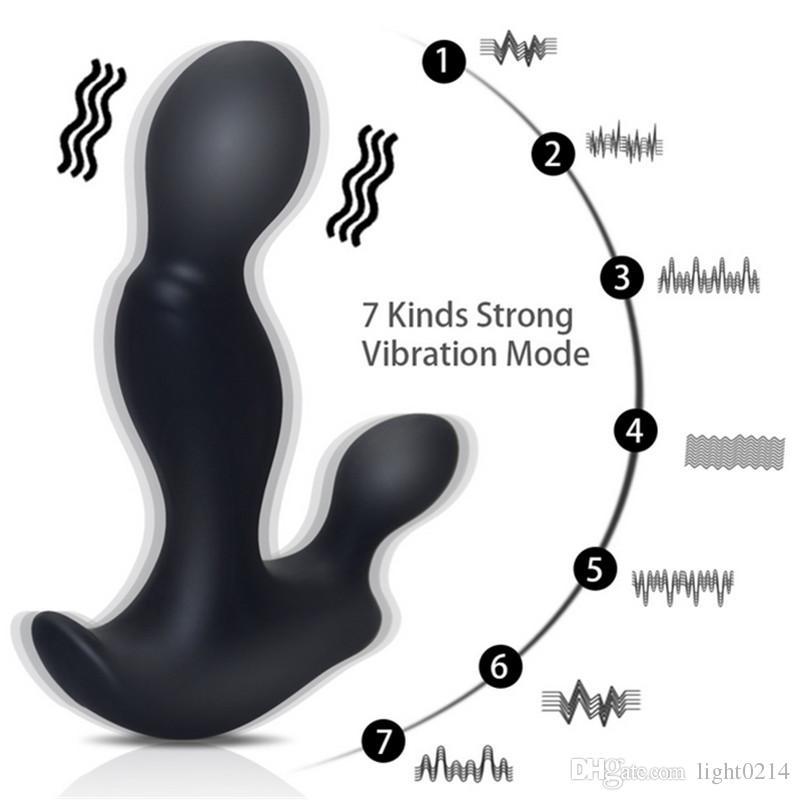 Anal Vibrator G-spot Prostate Massager Anal Plug USB Rechargeable Butt Plugs Stimulation Male Masturbation Sex Toys A1-1-92