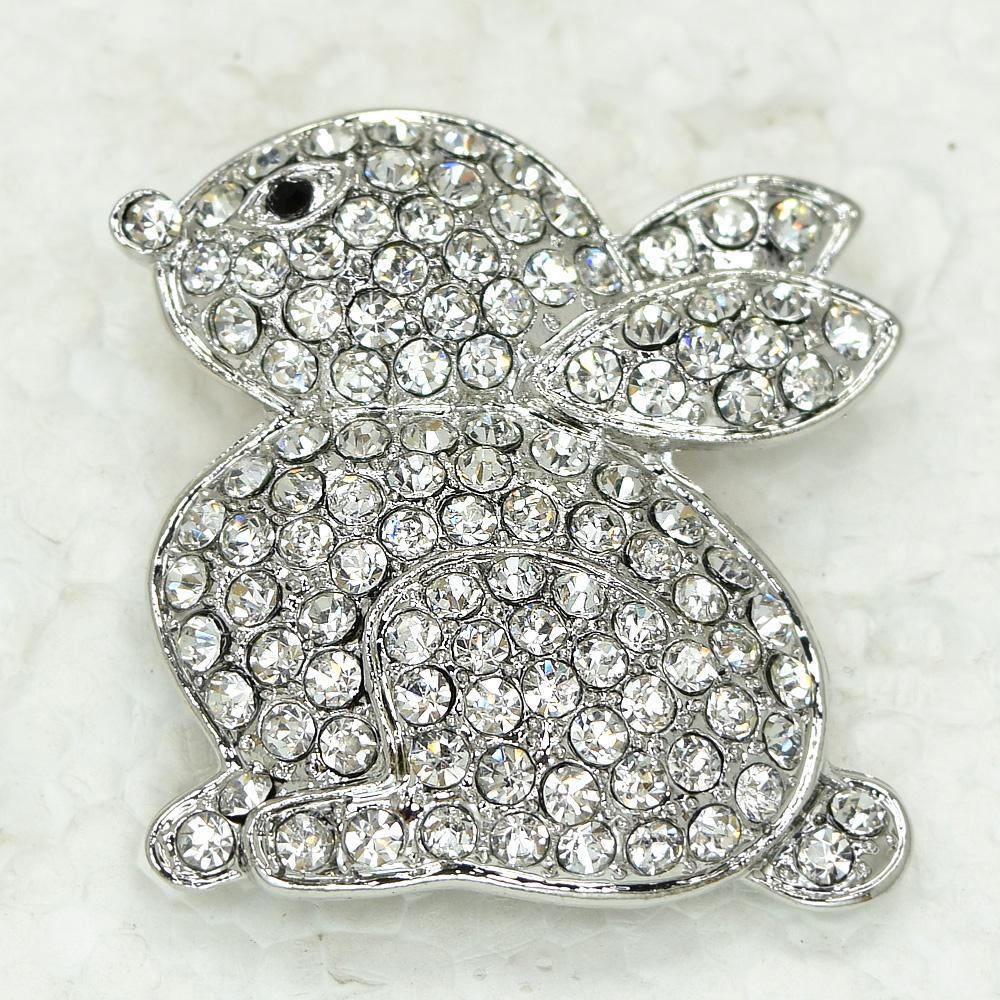 Wholesale CRYSTAL RHINESTONE EASTER BUNNY RABBIT PIN BROOCH C745