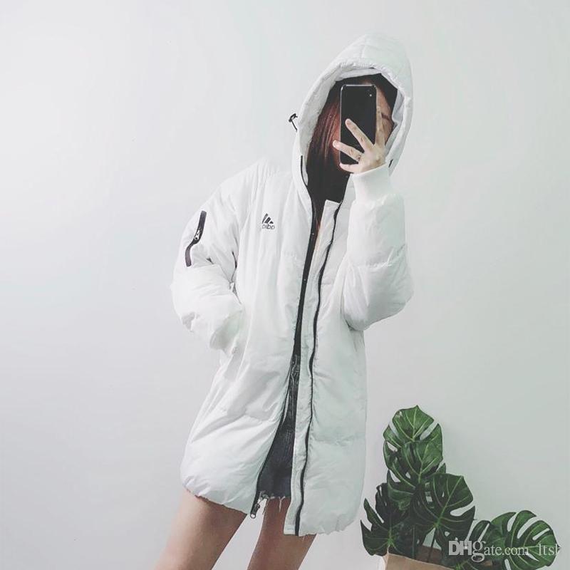 040938bb45 Womens Winter Jacket N I K E Fashion Brand Long Sleeve Cotton Coats White  Black Colour Five Size Women Jacket Ladies Jacket From Ltsh