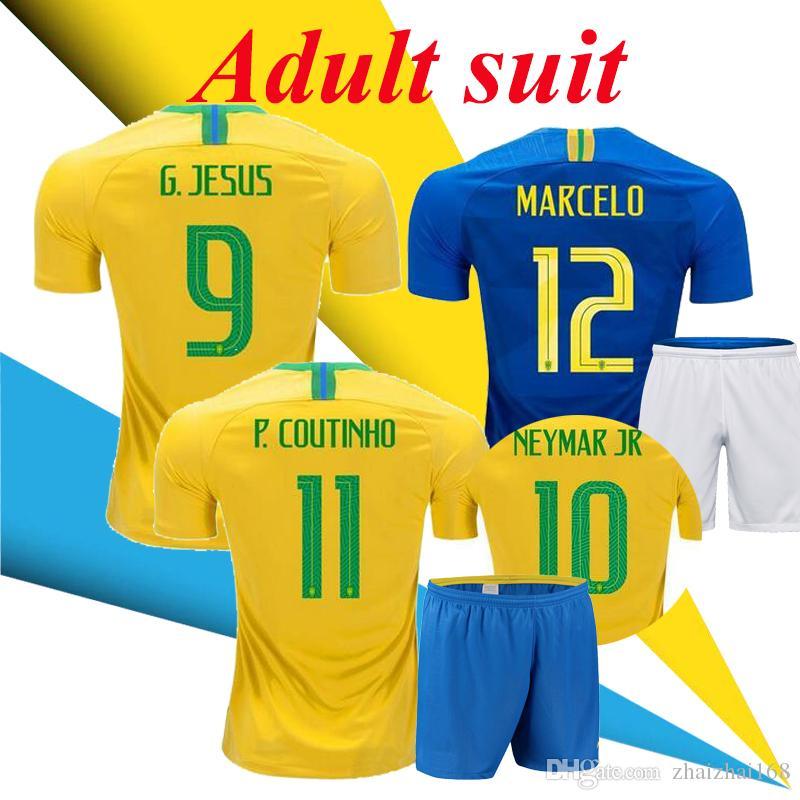 282c7794c ... jersey is a 2016 2017 brazil team  world cup 2018 adult suit coutinho g  jesus firmino home soccer jerseys brazil futbol camisa brasil
