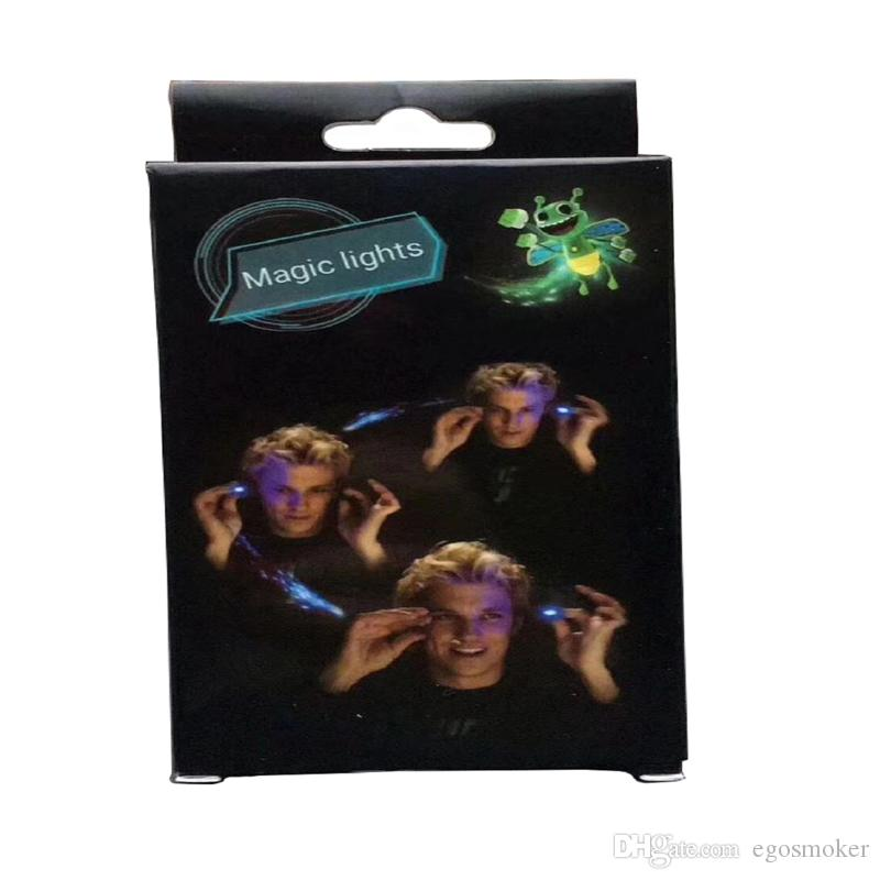 Neue kreative kühle Zaubertrickfingerfliegen bugz beleuchtet helle bugz LED-Anzeige XQ