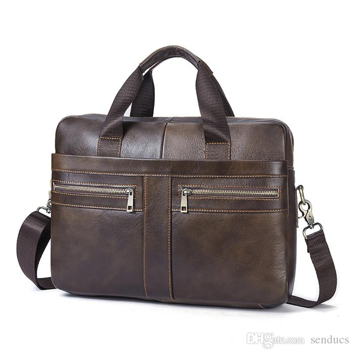 Men Crossbody Bags Genuine Leather Men Shoulder Bag Male Briefcase ... b24b72cbb28b1