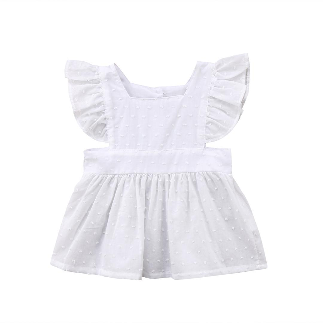 01a4b6a33c85ec Newborn Kids Baby Girls Ruffle Top Blouse White Solid Summer Short Sleeve  Girl Tops Cool Toddler T Shirts Tshirts For Kids From Paradise02, $36.2|  DHgate.