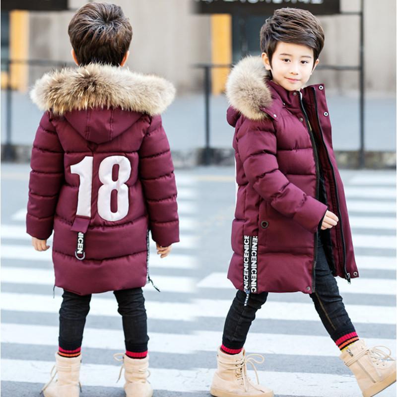 f8ebc643c Children S Boy Winter Clothing Down Cotton Wadded Jacket 2018 New ...