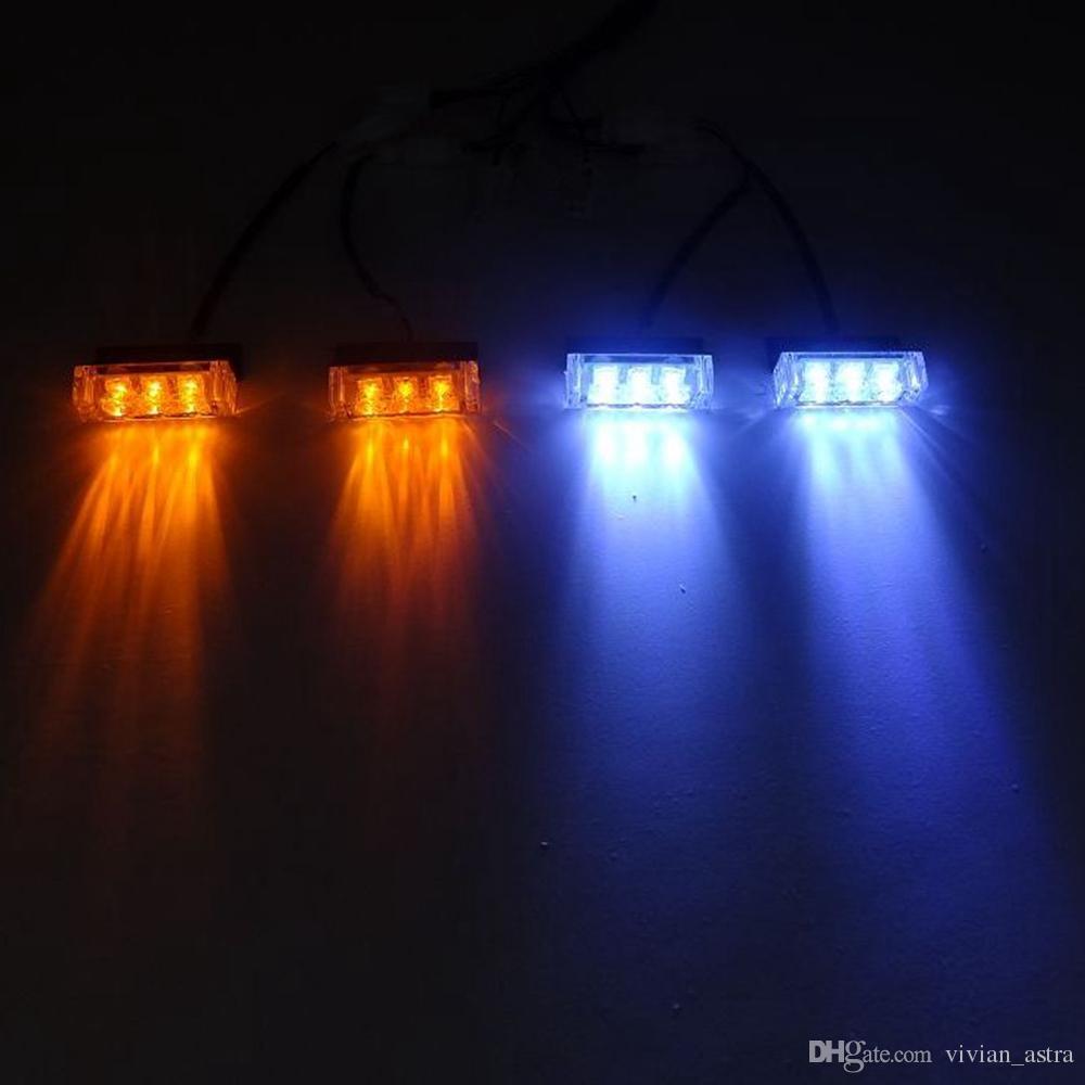 2x3 4x3 6x3 8x3 Advertencia EMS Police Lights LED Coche estroboscópico Flash Firemen 12v Emergencia de alta potencia Rojo Azul Blanco Verde Ámbar
