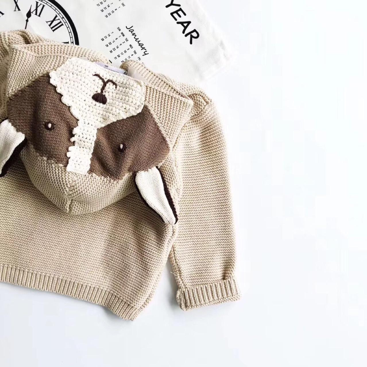 8fe1ac8f560a INS Baby Kids Clothing Sweater Hooded With Dog Design Cardigan ...