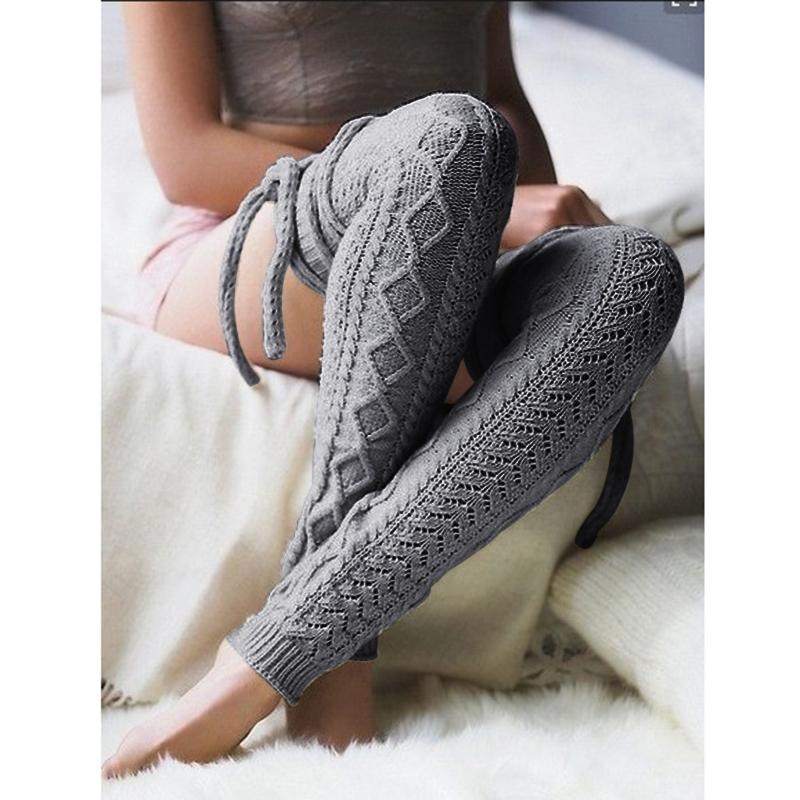 Acheter 2018 Automne Hiver Tricoté Genou Bas Collants Femmes Coton Chaud  Cuisse Haut Bas Jambière Sexy Dames Rester Collant De  26.79 Du Sweet59  ff2974d8dbd
