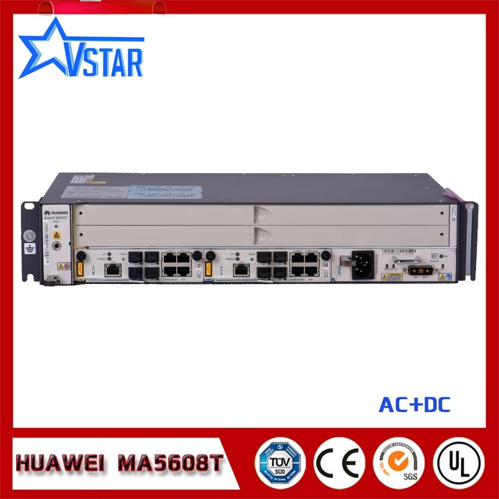 19 inch mini OLT MA5608T Huawei original GEPON OLT,DC Optical Line Terminal  with ONE GPBD, 2U height