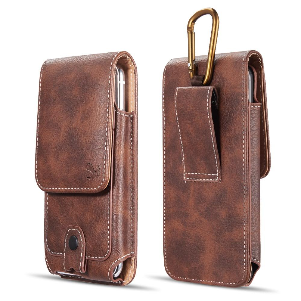 d29ba5f408ac Universal Belt Clip Case Waterproof Case Premium Leather Pouch Holster Case  For Samsung iPhone 4.7 5.5 inch