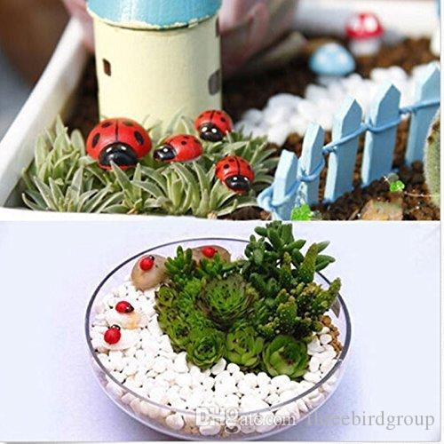 Miniature Fairy Garden Ladybugs Beatles Ornament Plant Pot Figurine DIY Outdoor Decor Home Decoration